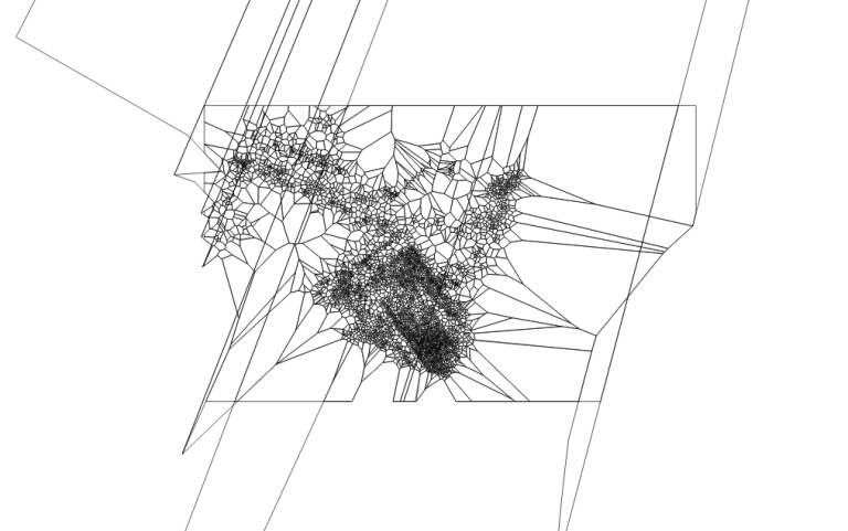 Voronoi polygons with some artifacts