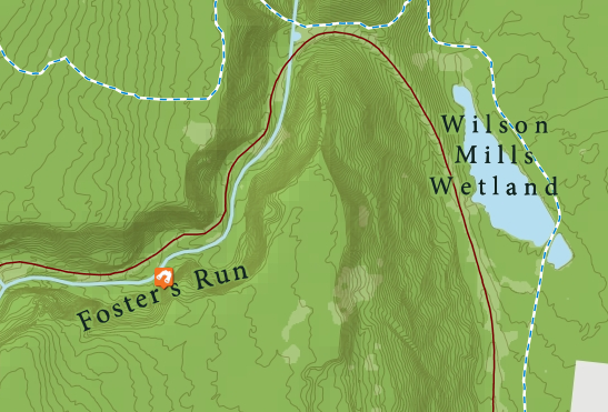 Detailed view of map