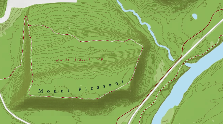 An map of Mount Pleasant