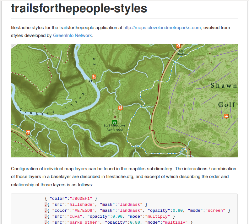 Screenshot of trailsforthepeople-styles github readme.md