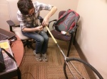 attaching the unicycle