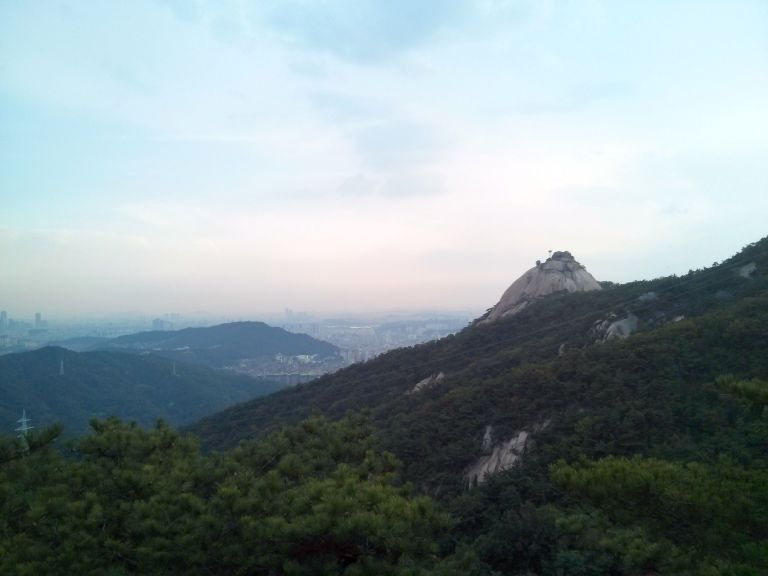 A view from Bukhansan National Park over Seoul