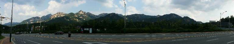 5 Ridges as viewed from the road at the southern end of Bukhansan National Park