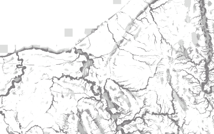 Map of landscape position estimated valleys in Cuyahoga County, Ohio
