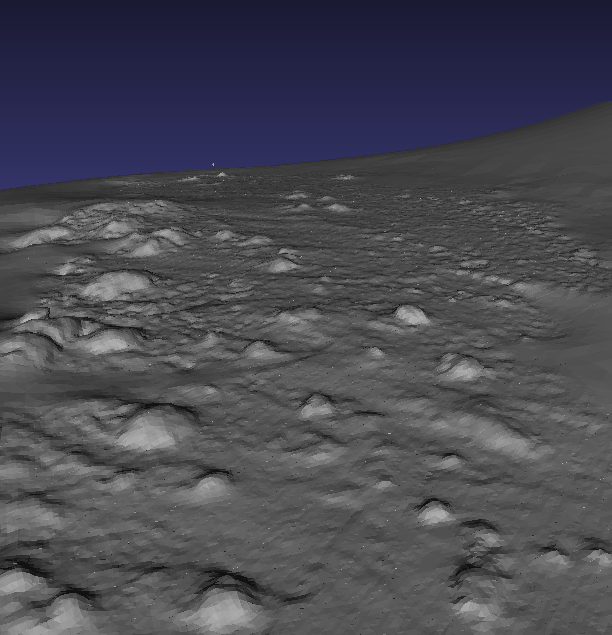 Mesh of small scale beach structure