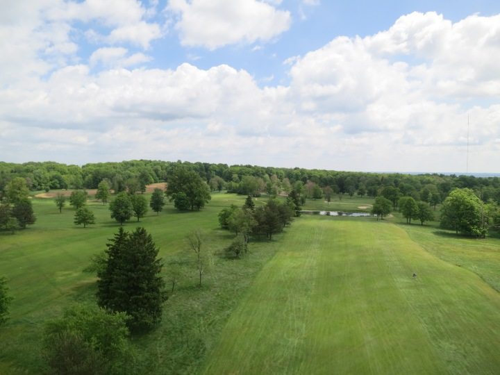 Image from kite over Seneca Golf Course