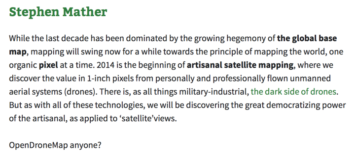 Screen shot of geohipster write-up