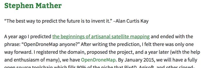 screen shot of 2014 predictions