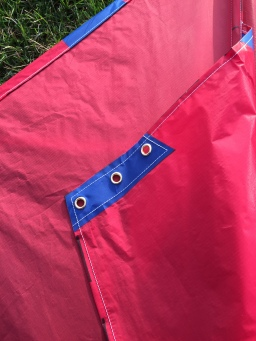 3 grommets for different wind speeds