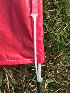 Nice detail connecting carbon fiber spar to kite.