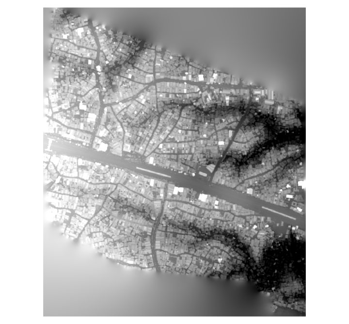 Image of unfiltered surface model.
