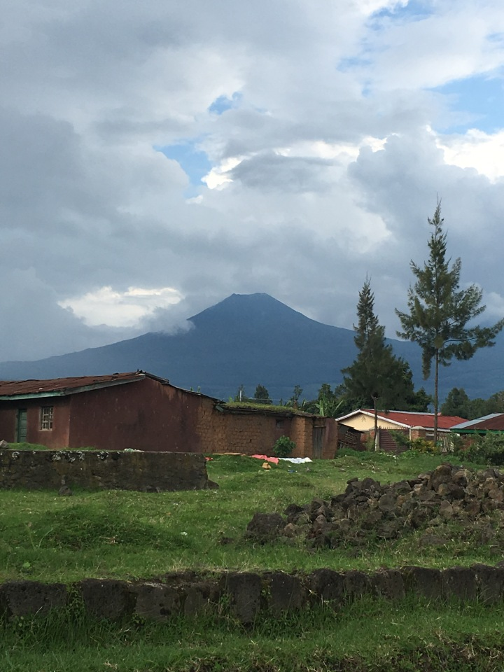 Mount Mgahinga over Musanze Town