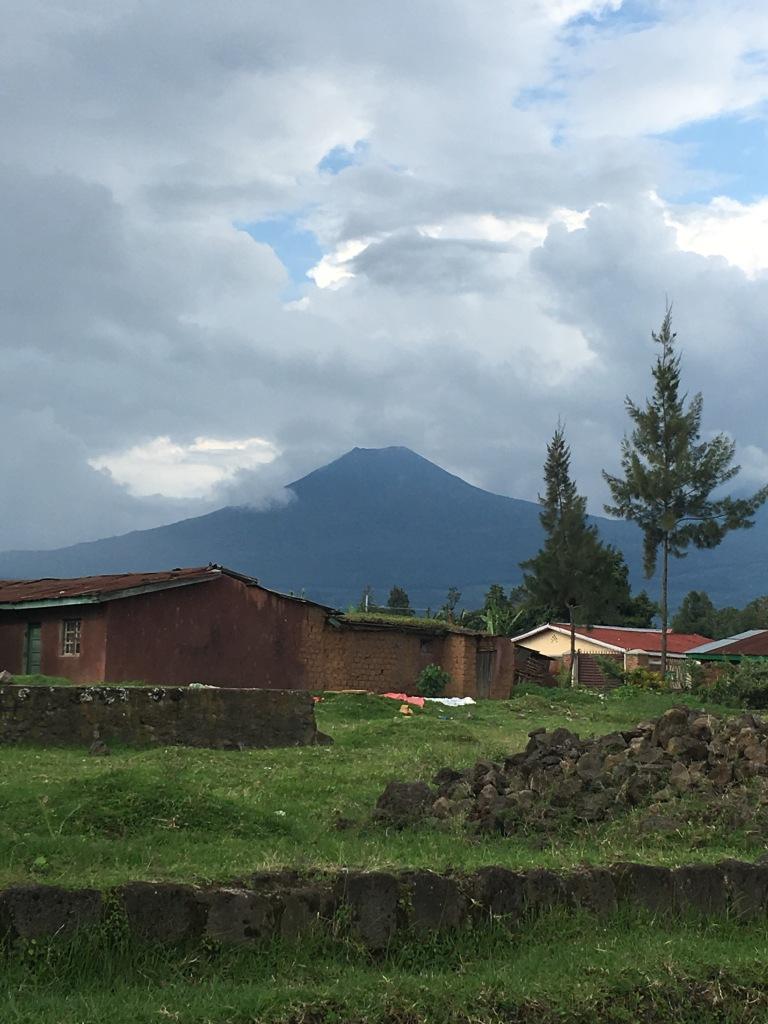 Mount Mgahinga over Musanze Town