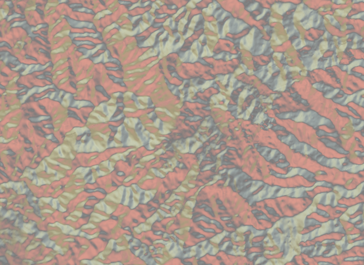 Multicolor hillshade with no simplification