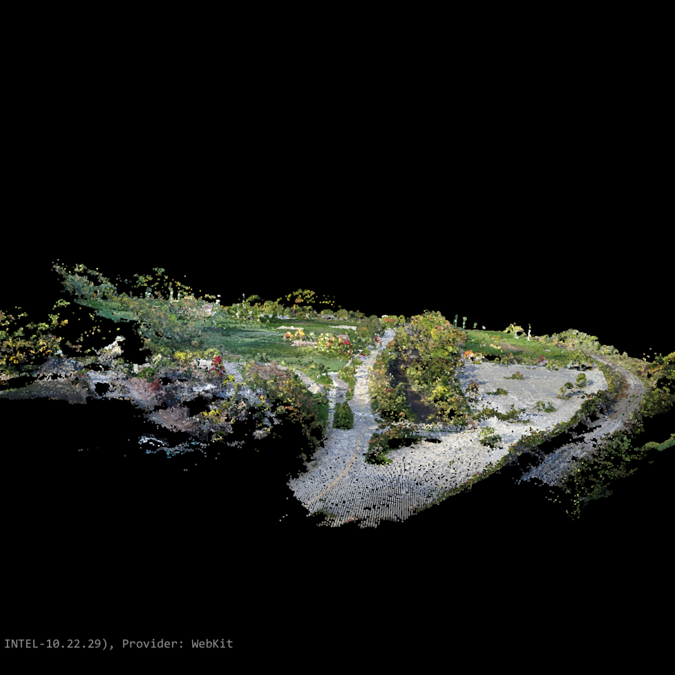 Profile image of point cloud over local park