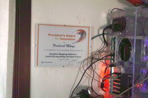 President's Award with server