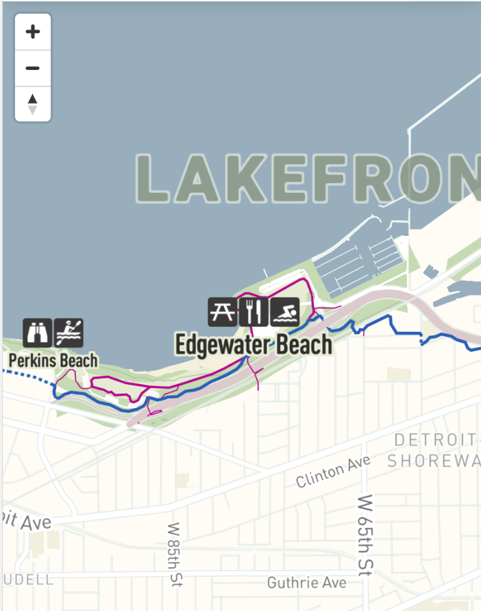 Lakefront map