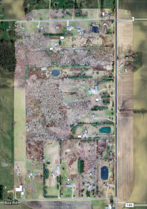 80 acre aerial image