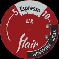 Flat image of Flair espresso gauge face